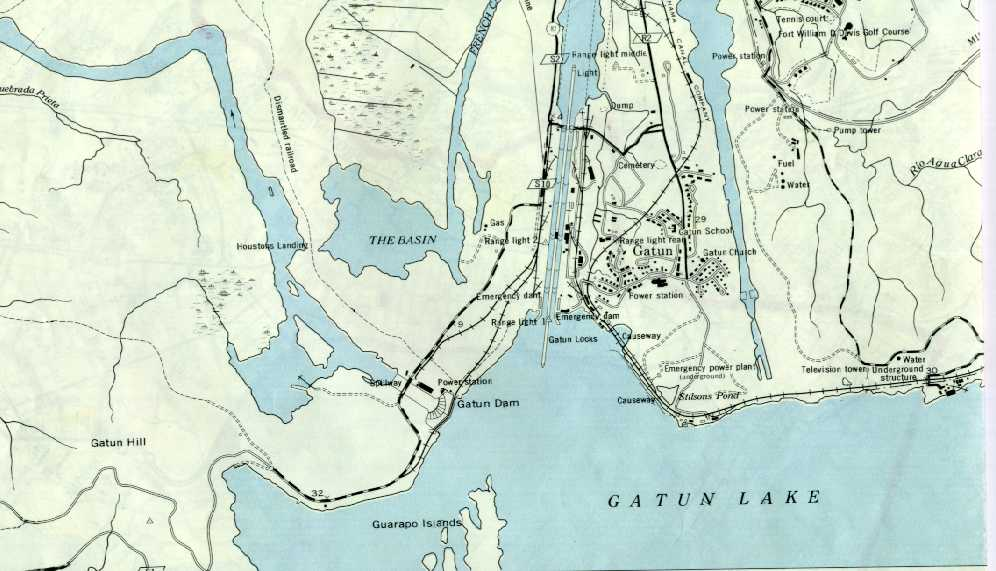 Canal Zone Map